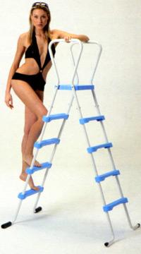 Vendita scale e scalette per piscine fuoriterra 1000 - Scaletta per piscina fuori terra ...