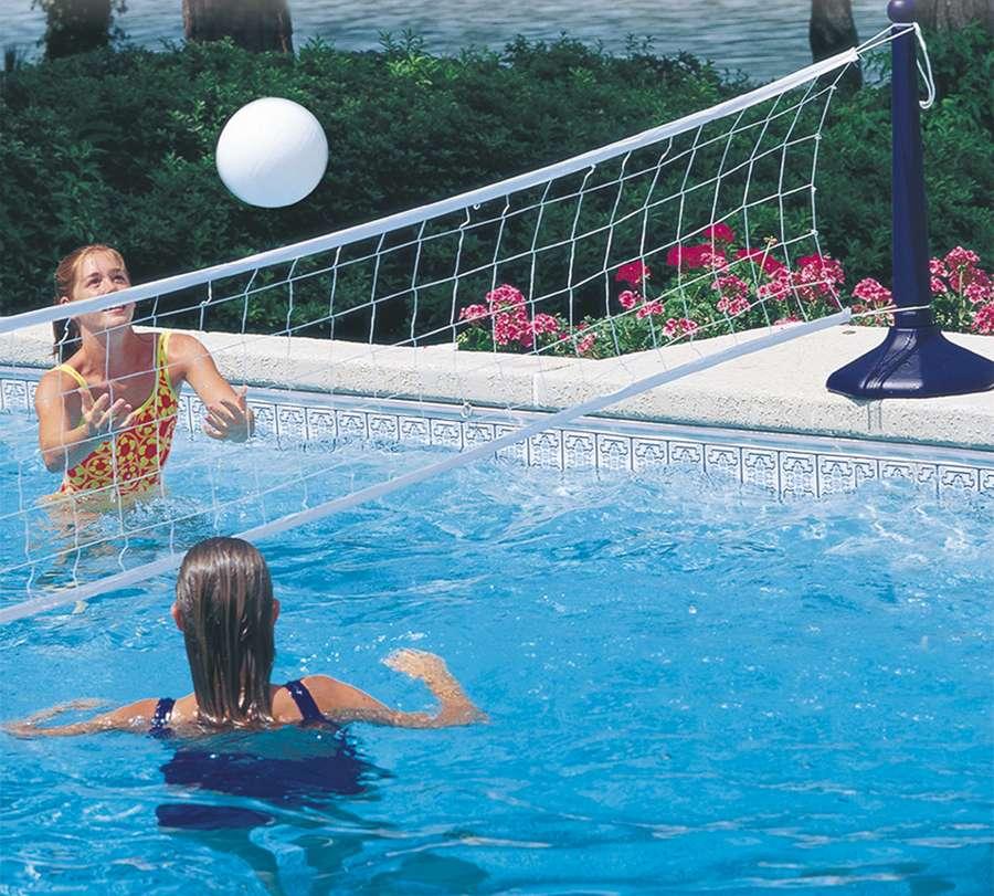 Rete pallavolo fissa con pilastri - Rete pallavolo piscina ...