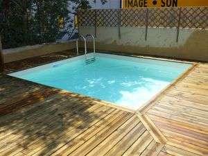 Piscina in legno pacific bahia quadrata 1000 piscine - Piscina fuori terra quadrata ...