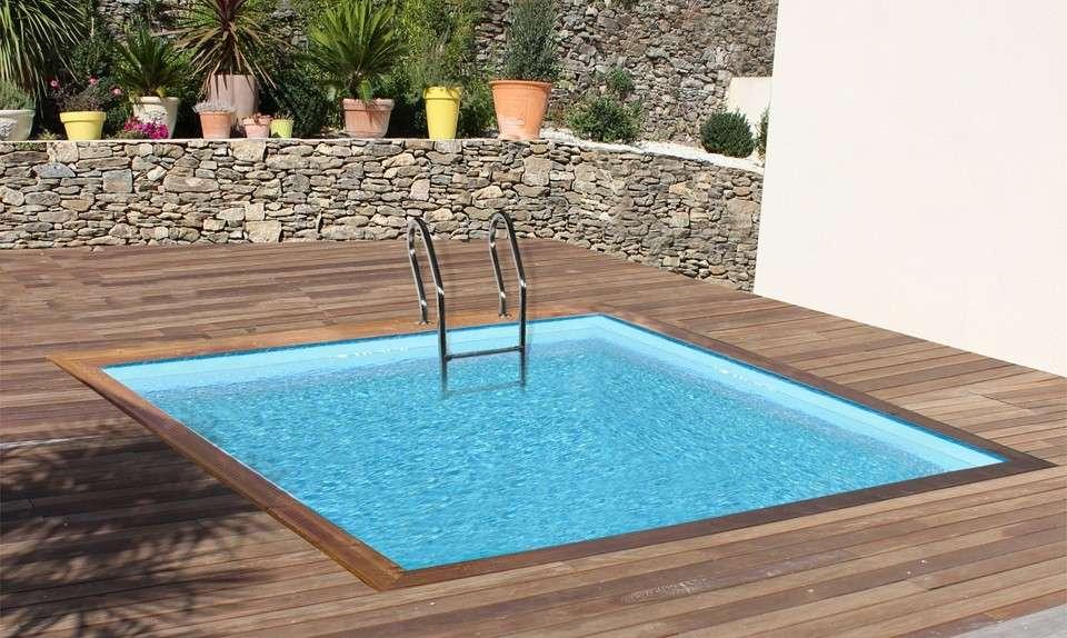 Piscina Fuoriterra Wooden Pool Quadrata   1000 Piscine