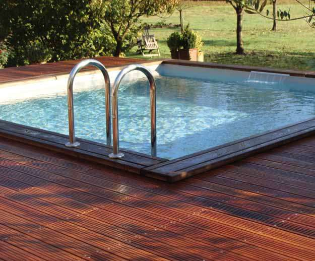 piscina in legno ocea pool carree 1000 piscine. Black Bedroom Furniture Sets. Home Design Ideas