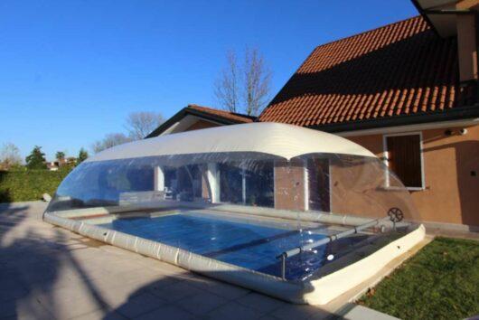 CristalBall cupola gonfiabile per piscine ad effetto serra, copertura protettiva