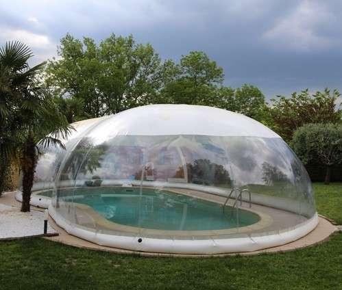 Cristalball cupola gonfiabile per piscine 1000 piscine - Poltrone gonfiabili per piscina ...
