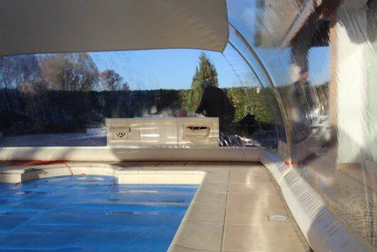 Interno CristalBall cupola gonfiabile per piscine ad effetto serra, copertura protettiva