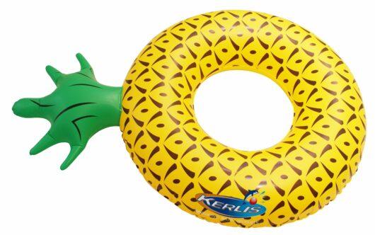 Salvagente a ciambella a forma di ananas.