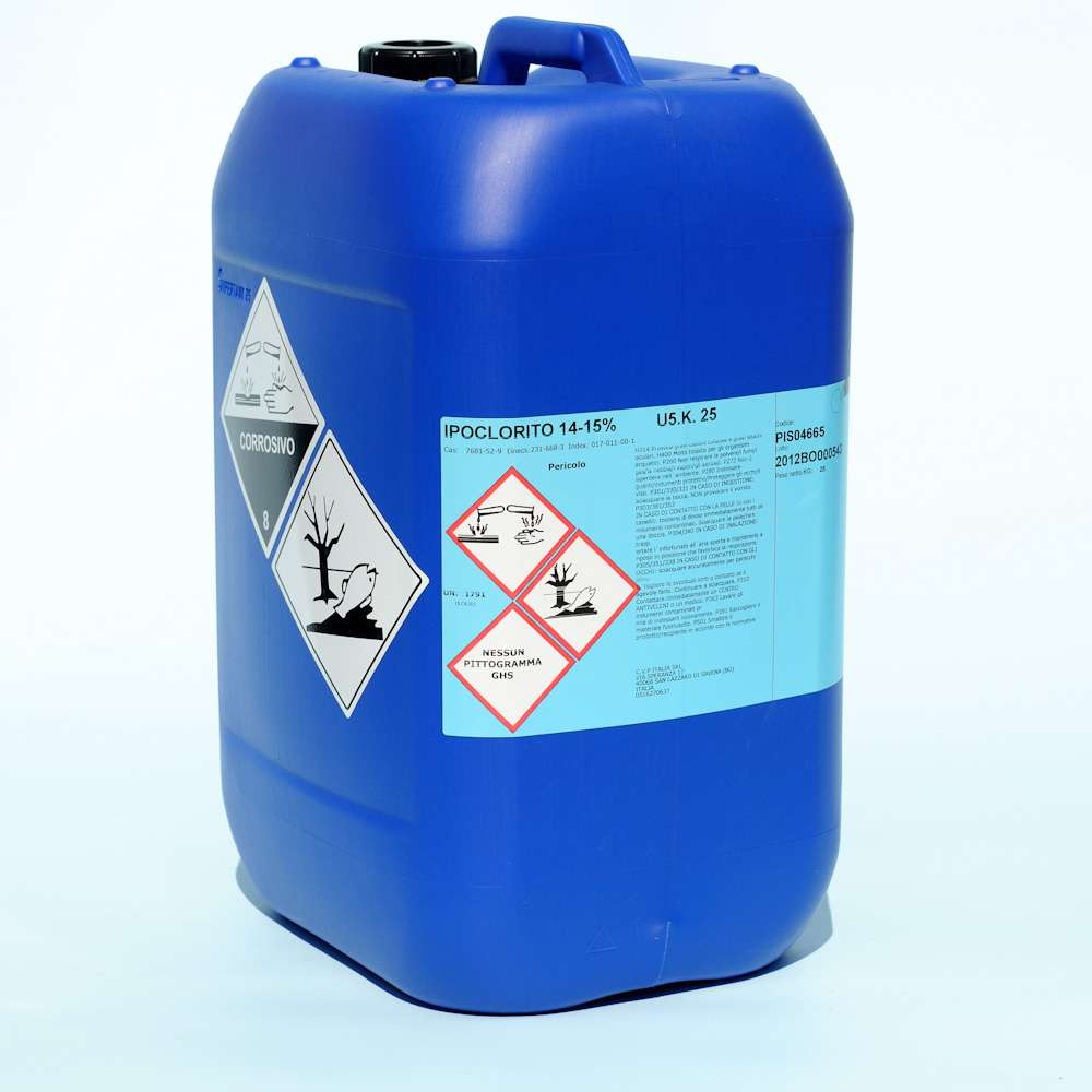 ipoclorito di sodio cloro liquido