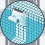 Fondo, pareti e linea di galleggiamento Robot piscine Dolphin Maytronics