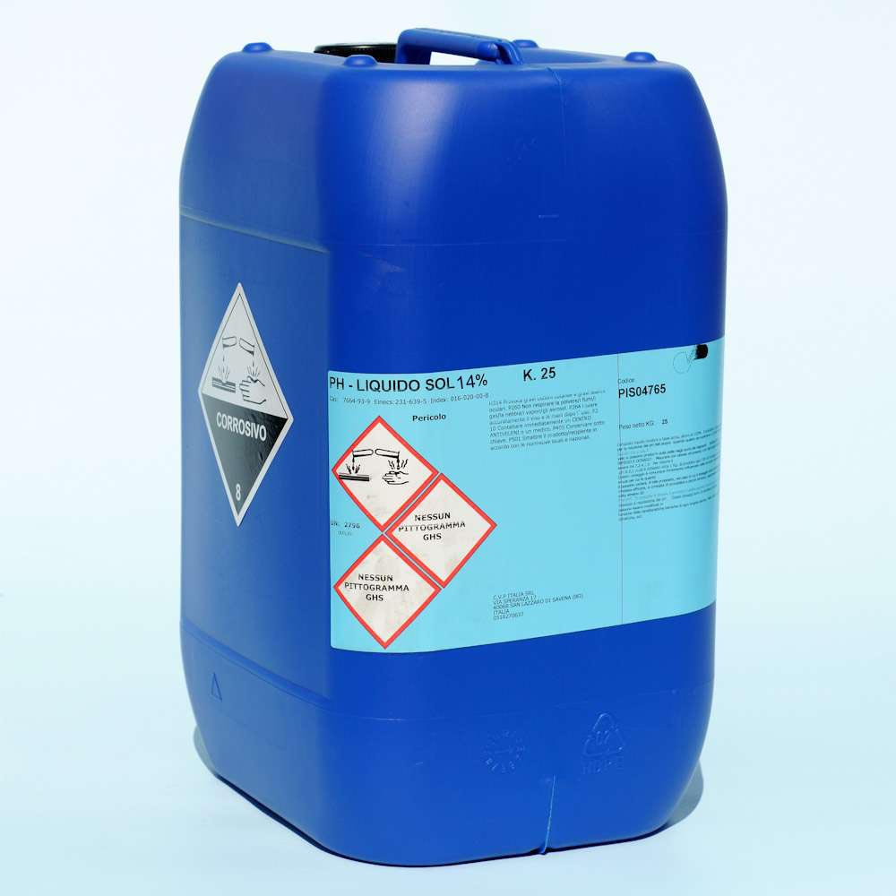 Riduttore ph liquido for Cloro liquido per piscine