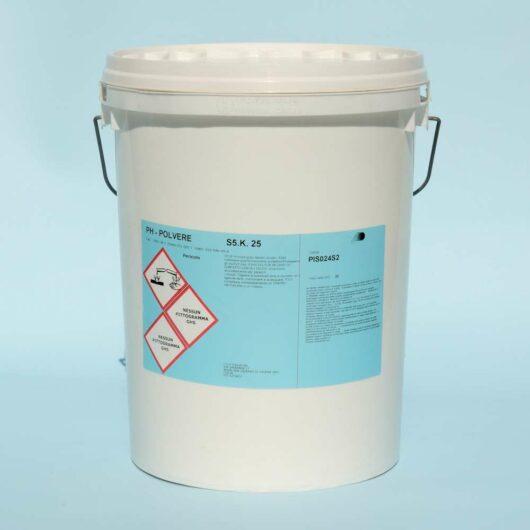Prodotti chimici per piscina: acido in polvere PH meno