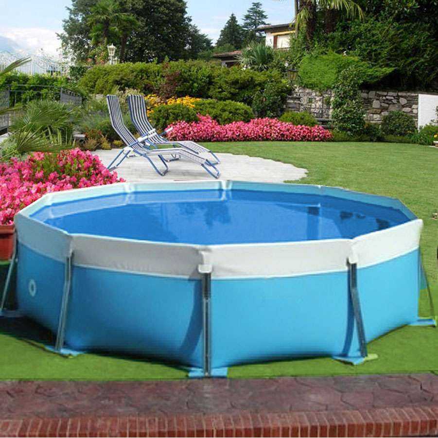 Round water piscine fuoriterra autoportanti 1000 piscine for Scalette piscine fuori terra