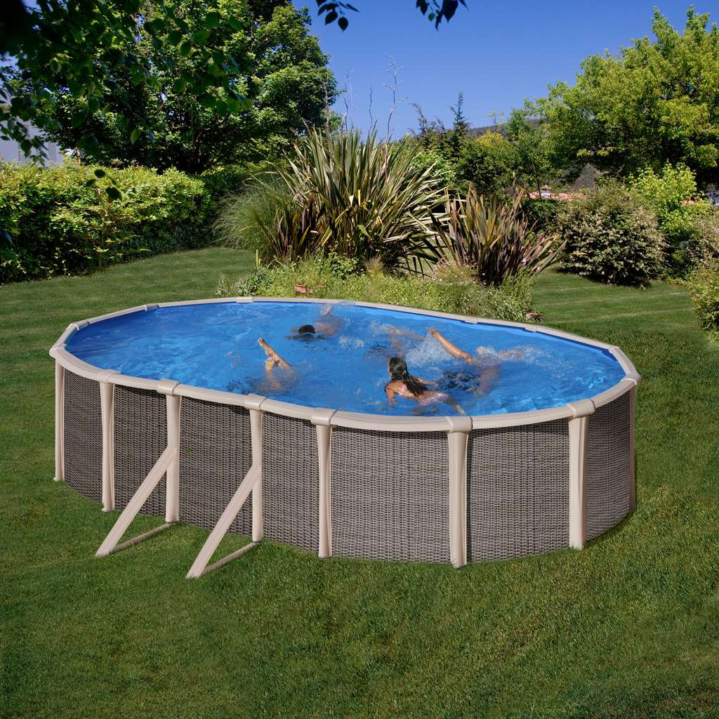 Fusion Pool Piscina Ovale E Rotonda In Acciaio E Polipropilene