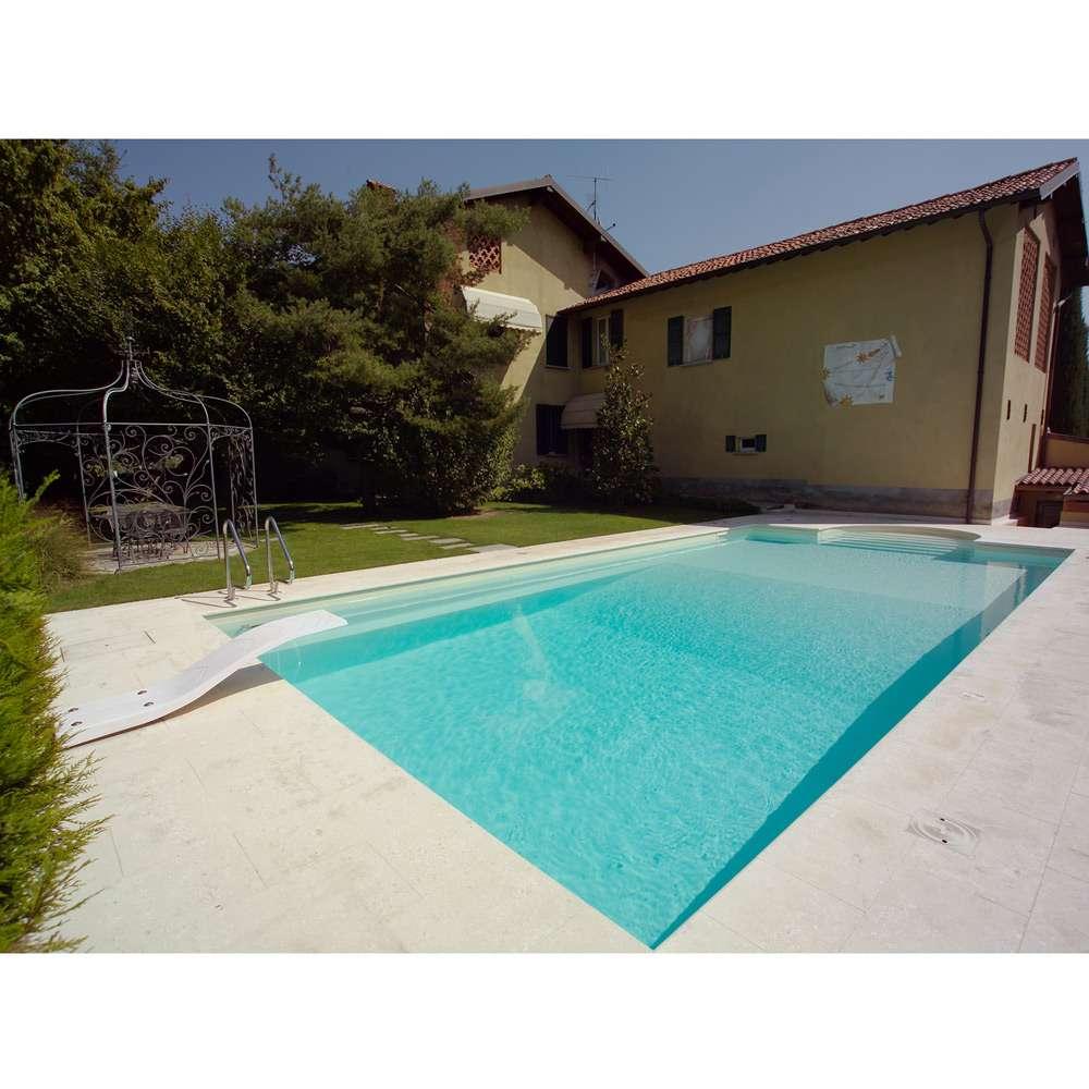 Piscine interrate in pannelli di acciaio a skimmer con scala romana in kit 1000 piscine - Piscina skimmer ...