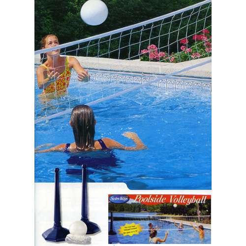 Rete pallavolo fissa con pilastri 1000 piscine - Rete pallavolo piscina ...