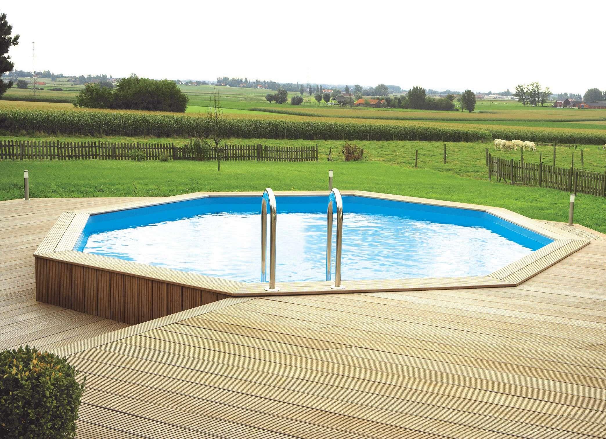 Piscina in legno ocea pool ronde 1000 piscine for 1000 piscine