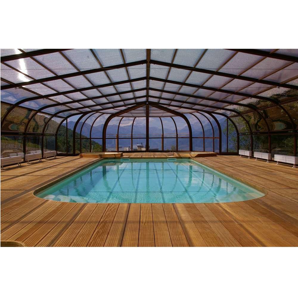 Copertura telescopica rame facciata rotonda 1000 piscine - Materassini per piscina ...
