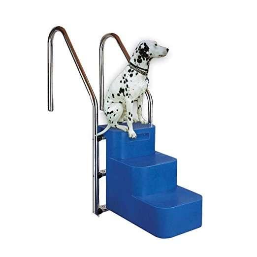 Scala per cani per piscina, adattabile ad ogni scaletta d'acciaio già installata