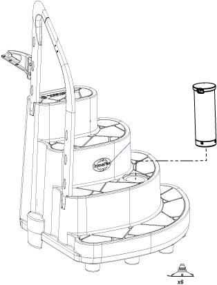 Majestic/Majestique scala per piscine in PVC rimovibile