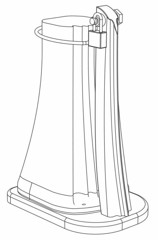 Staffa fissaggio D120
