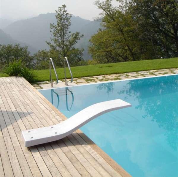 Trampolino per piscina Delfino