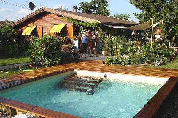 Piscina in legno wood line bahia quadrata 1000 piscine - Piscina fuori terra quadrata ...