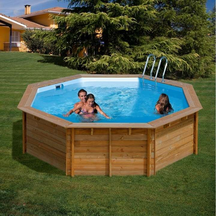 piscine tonde wooden pool vanille e violette piscine