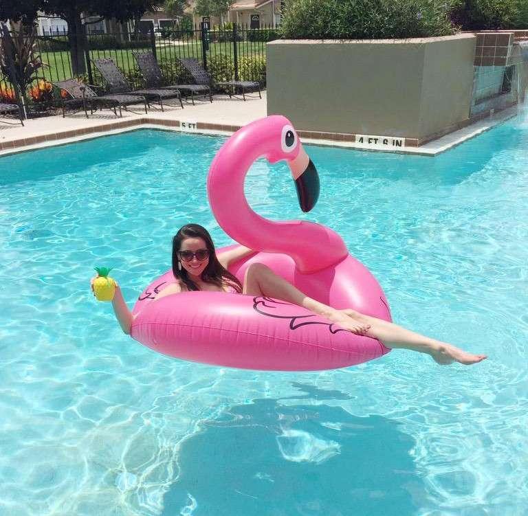 Ciambella fenicottero rosa gonfiabile 1000 piscine - Materassini per piscina ...