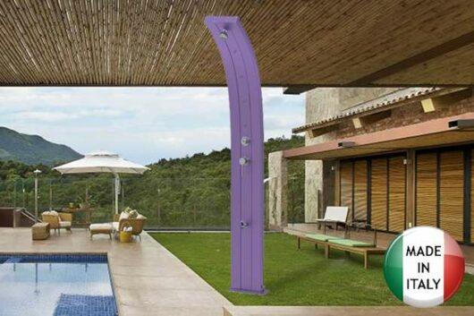 doccia-solare-dada viola a bordo piscina