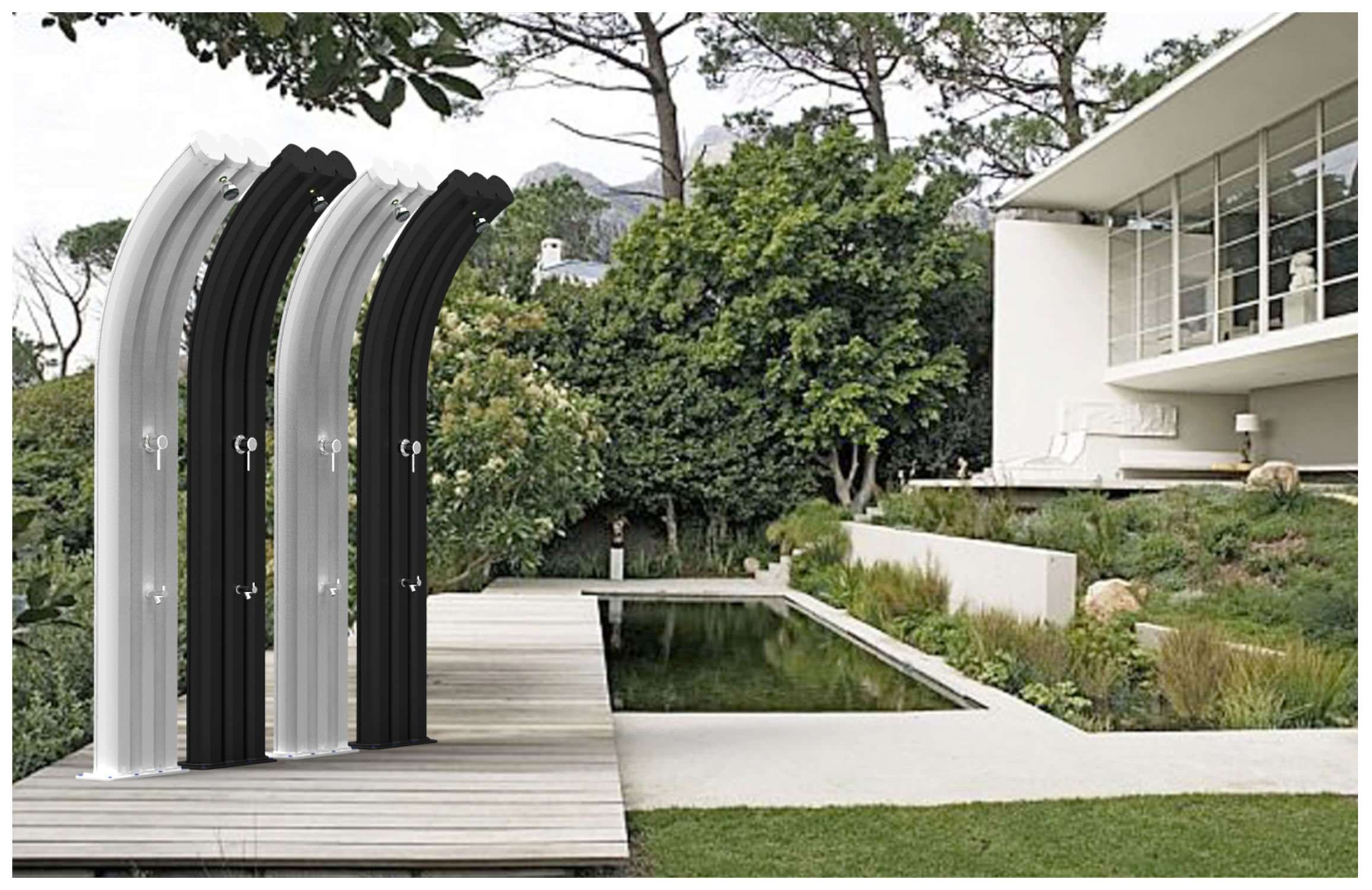 Doccia solare energy pro con miscelatore e rubinetto for Temporizzatore da giardino