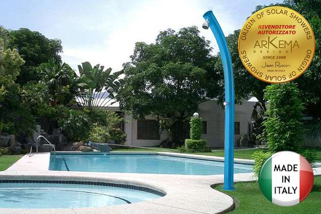 Doccia solare jolly con miscelatore e rubinetto lavapiedi for Piscina jolly
