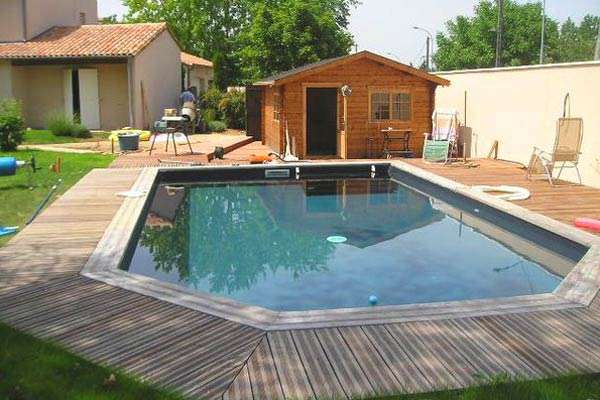 piscina in legno pacific fidji forma libera
