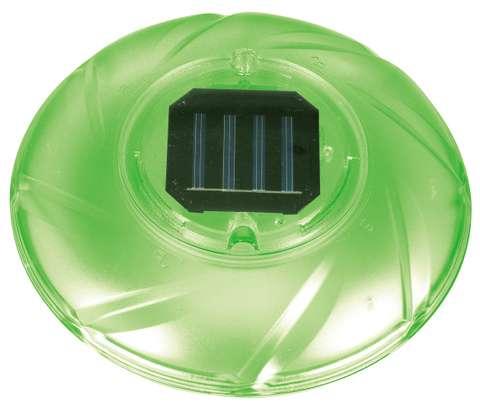 luci solari galleggianti a LED verde
