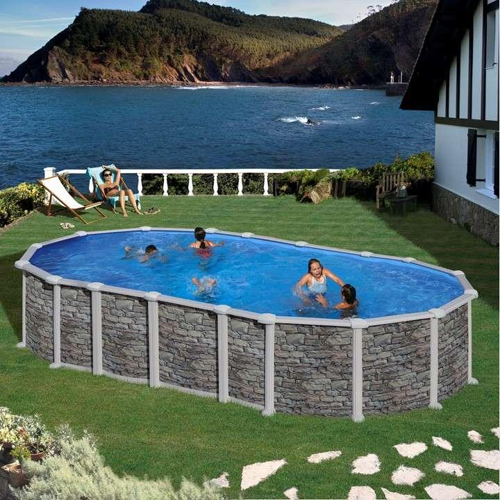 Piscina santorini ovale piscine fuori terra - Piscine fuori terra autoportanti ...