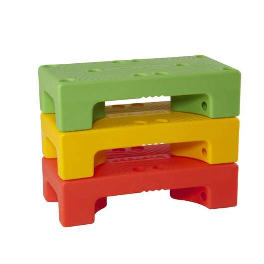 puzzle step impilato come LEGO