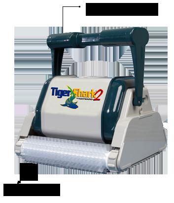 TigerShark2 con Manico ergonomico e Spazzole in lamelle PVC